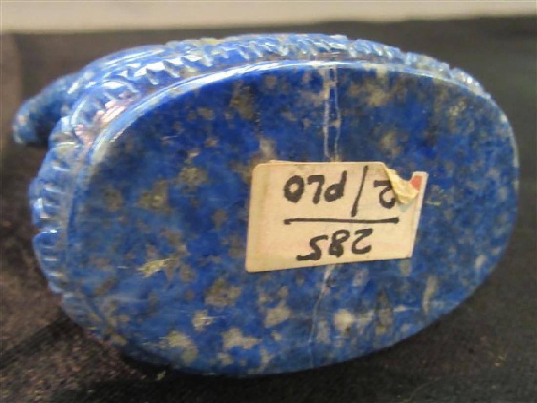 Chinese Carved Lapis Lazuli Elephant - 3