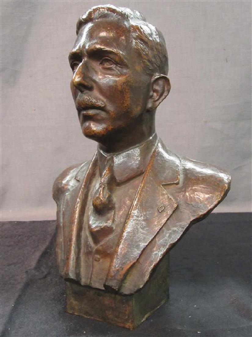 American Bronze Bust 19th c.