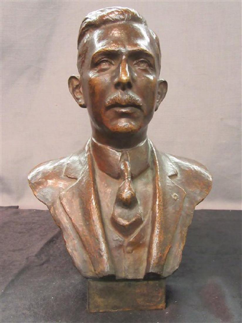 American Bronze Bust 19th c. - 2
