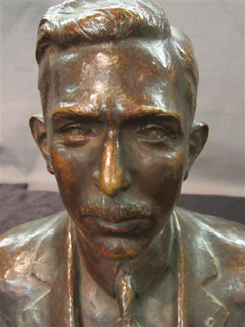 American Bronze Bust 19th c. - 3