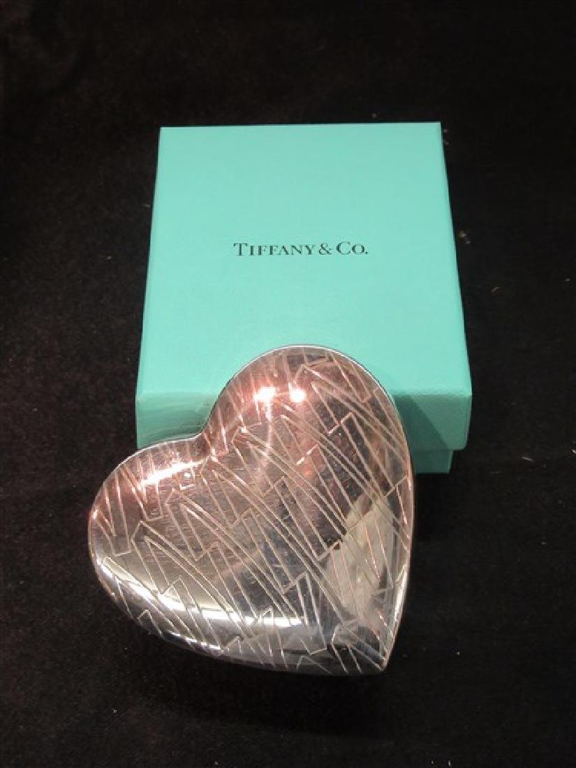 Tiffany & Co Sterling Silver Heart Trinket Box