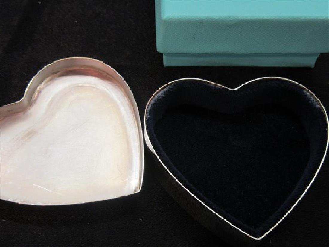 Tiffany & Co Sterling Silver Heart Trinket Box - 2