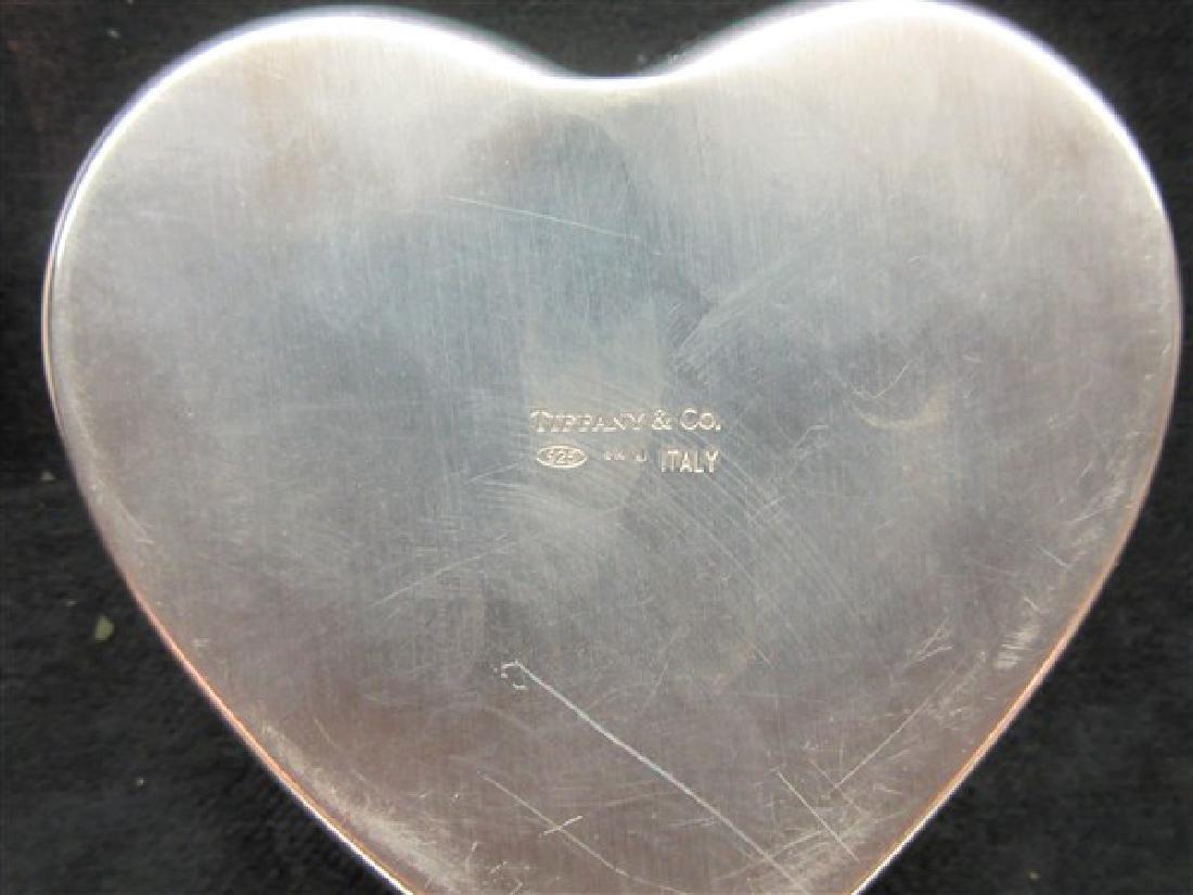 Tiffany & Co Sterling Silver Heart Trinket Box - 3