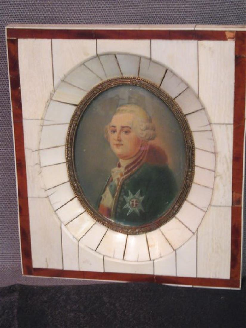 French Miniature Oil Portrait - 2