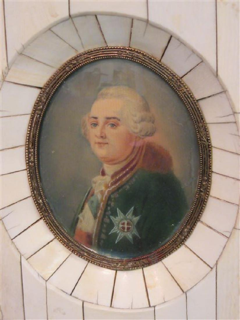 French Miniature Oil Portrait - 3