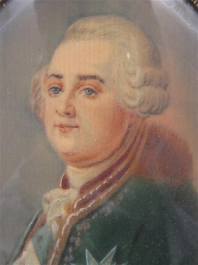 French Miniature Oil Portrait - 4