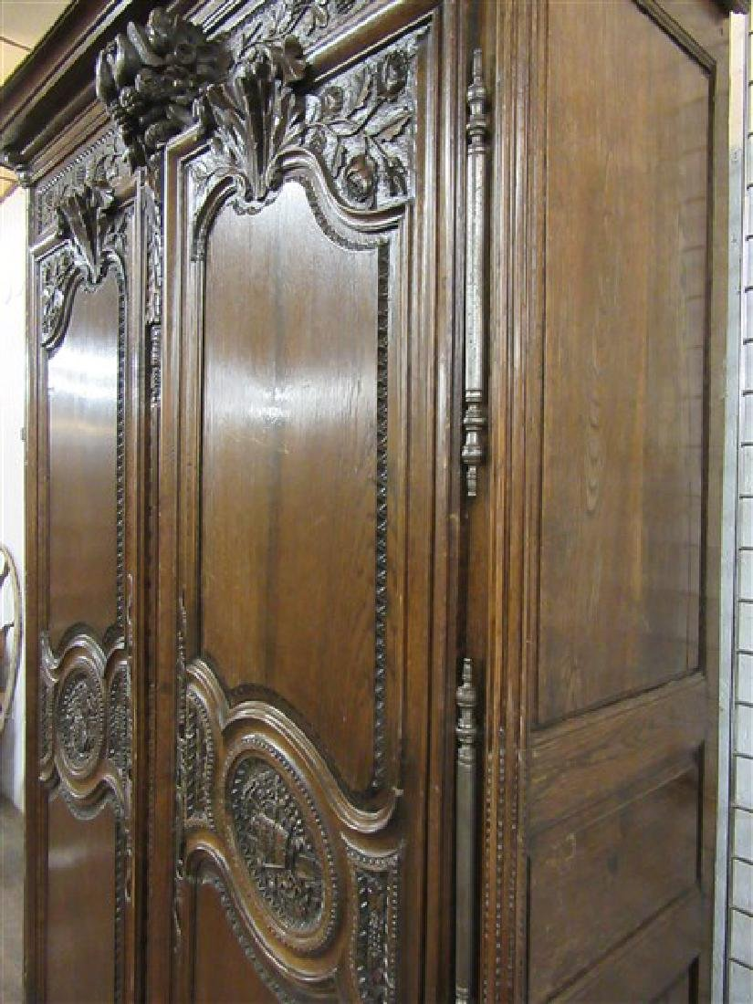 "Fine 19th C. Louis XV Palatial Size ""Wedding"" Armoire - 6"