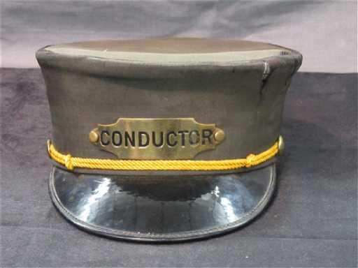 Vintage Train Conductor Hat 8fde28fd0a2e