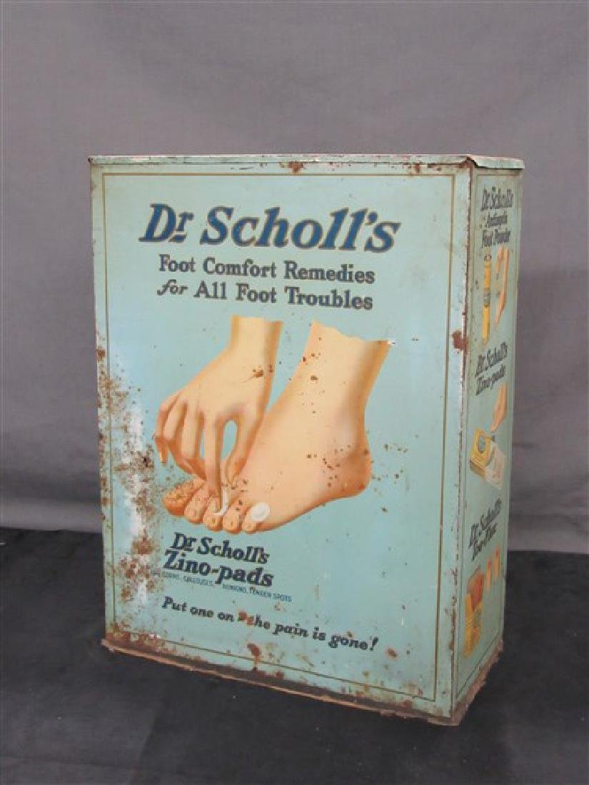 Vintage Dr. Scholls Store Display Advertising Cabinet