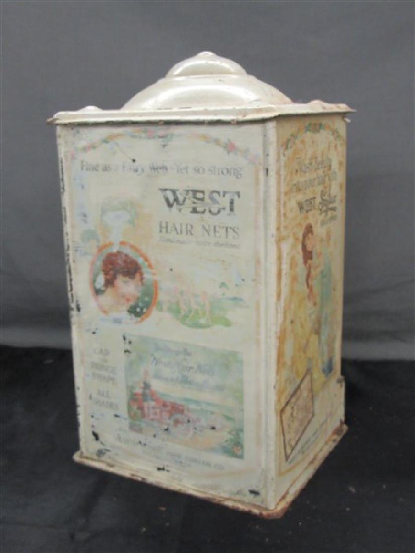 West Electric Hair Curlers Advertising Tin Display