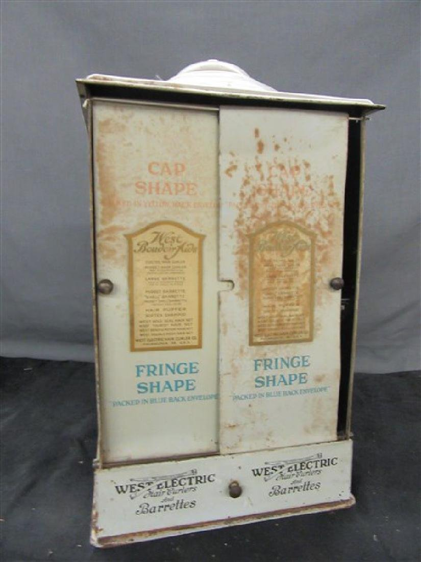 West Electric Hair Curlers Advertising Tin Display - 3