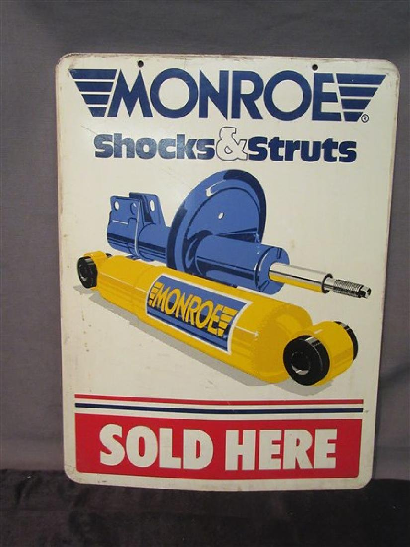 Monroe Shocks And Struts Tin Advertising Sign