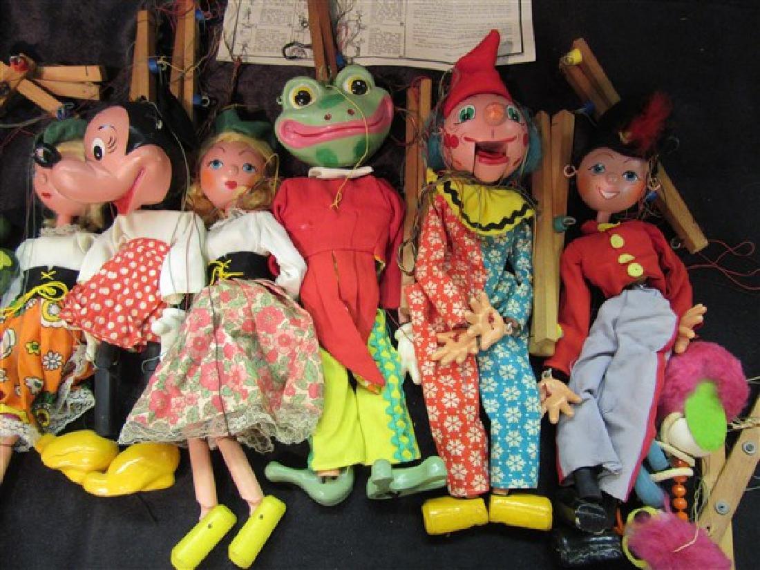 Ten (10) Vintage Pelham Puppets