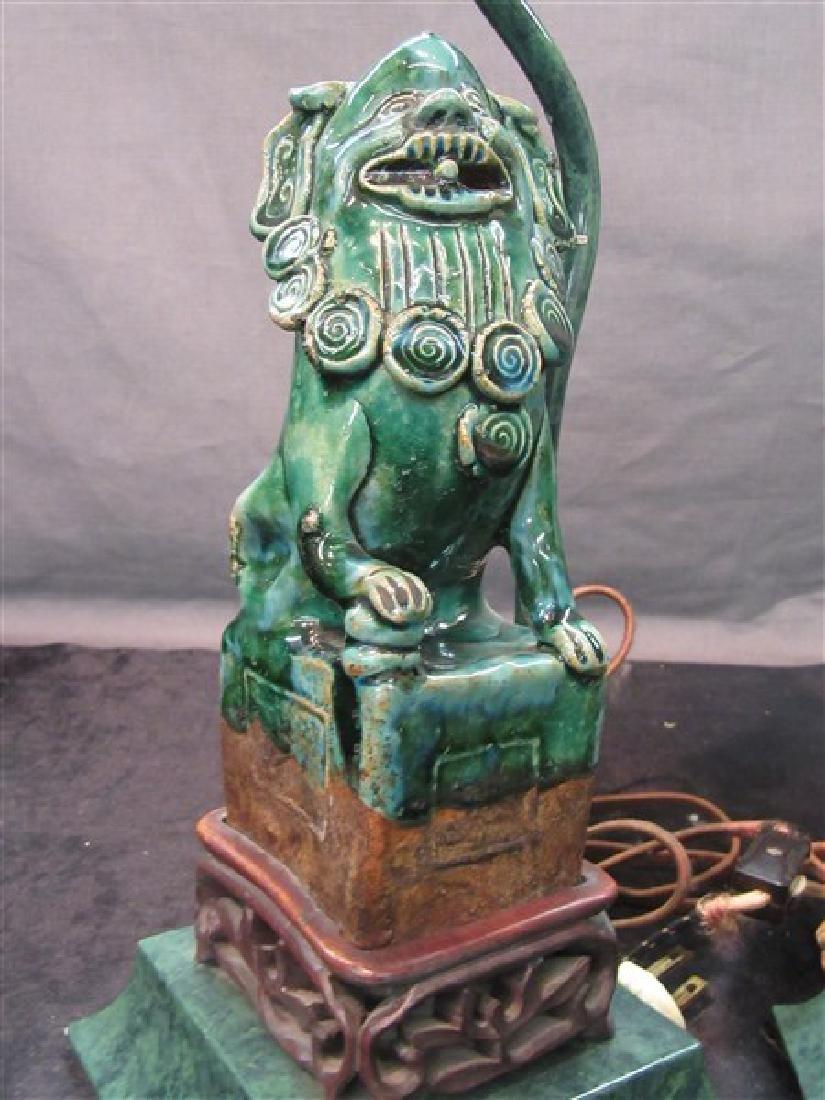 Chinese Art Deco Foo Dog Lamps - 3