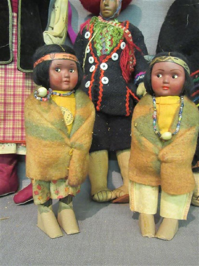 Five (5) American Indian Dolls - 4