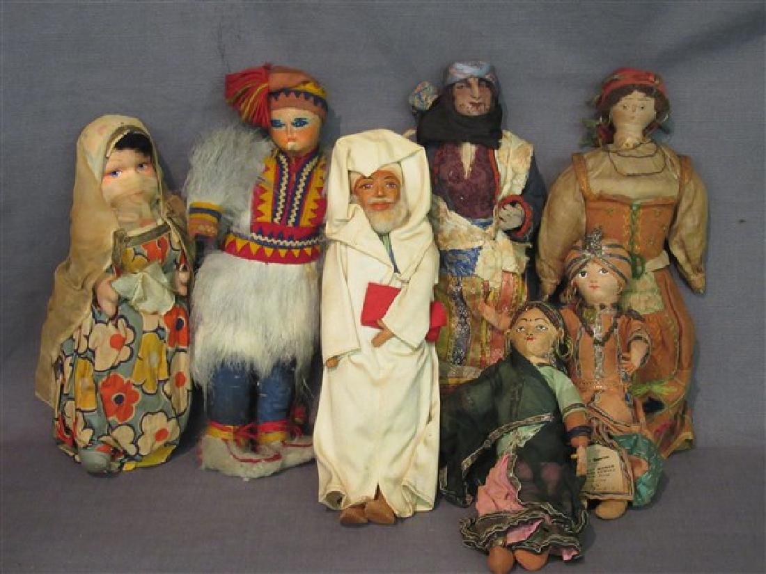 Early 20th C. International Dolls Group, Arab, India