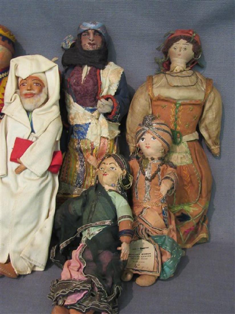 Early 20th C. International Dolls Group, Arab, India - 2