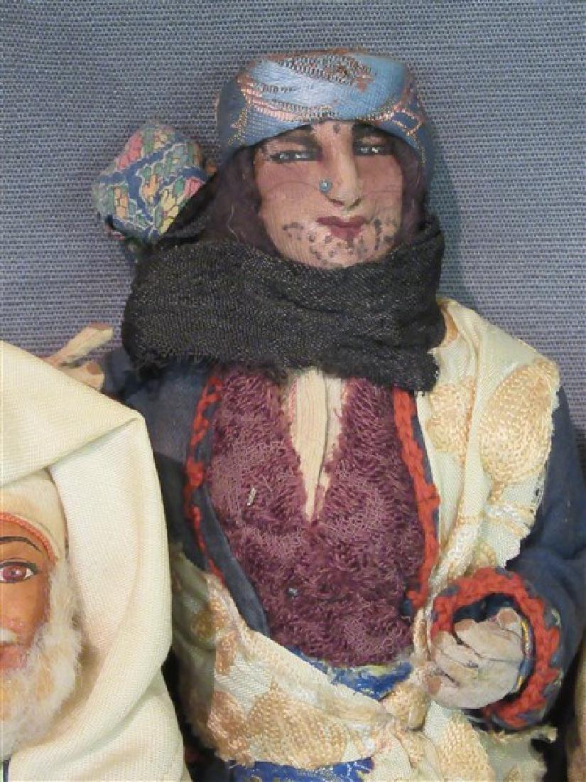 Early 20th C. International Dolls Group, Arab, India - 3