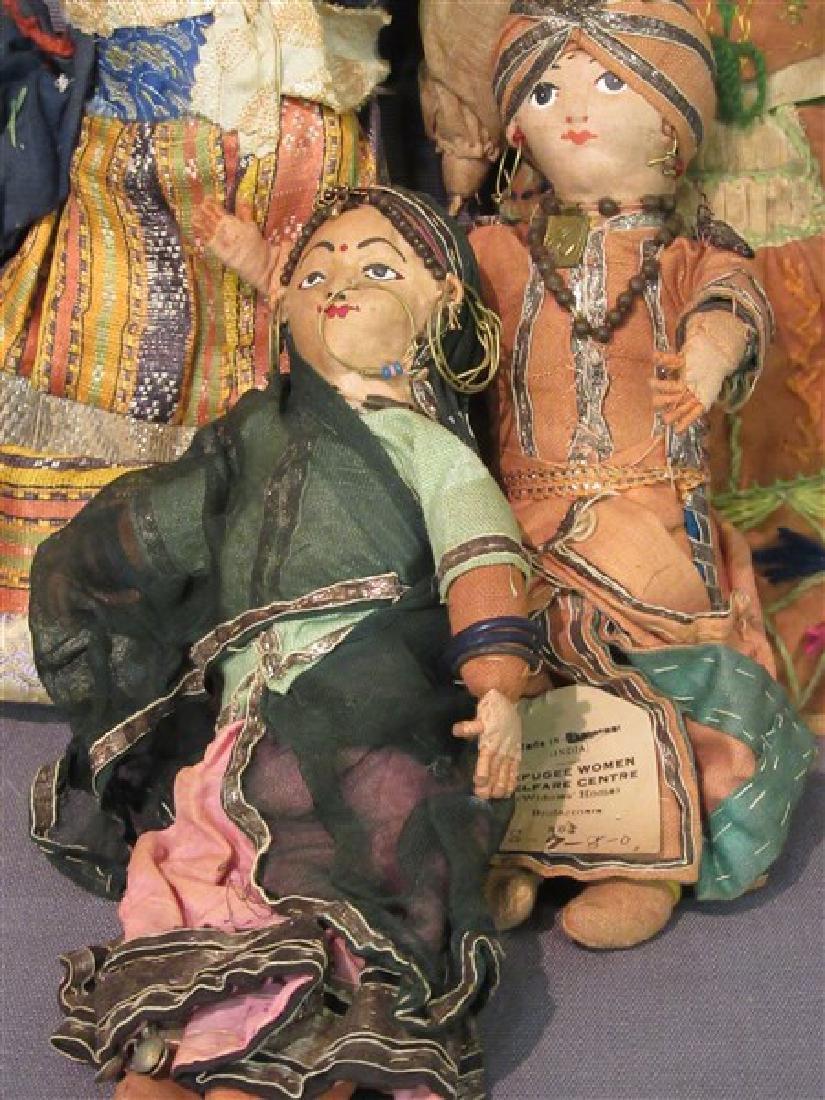 Early 20th C. International Dolls Group, Arab, India - 4