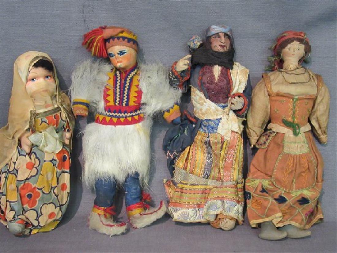 Early 20th C. International Dolls Group, Arab, India - 5