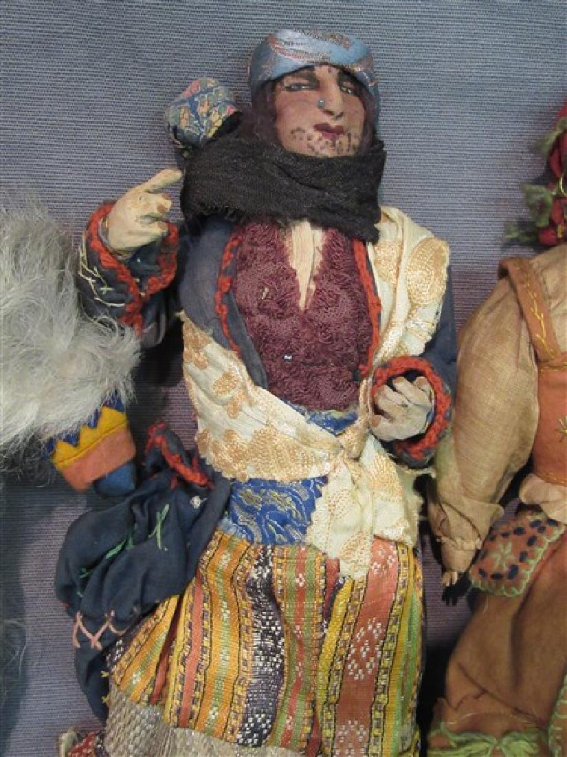 Early 20th C. International Dolls Group, Arab, India - 6