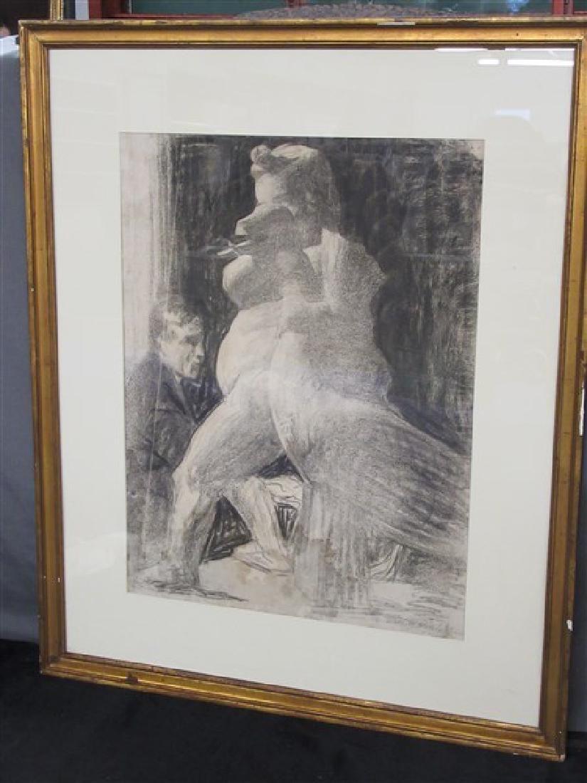 Thomas Anshutz (American 1851-1912) Charcoal Drawing