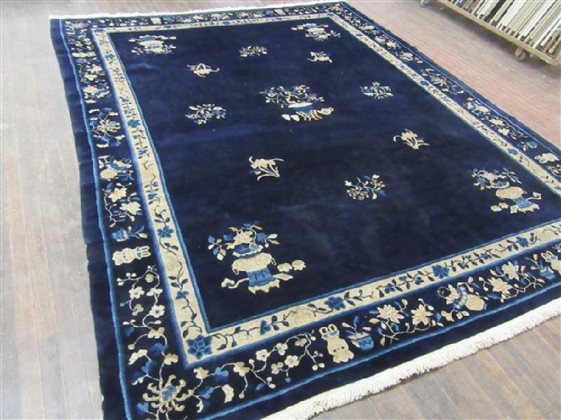 Antique Chinese Beijing Carpet 12ft X 9ft
