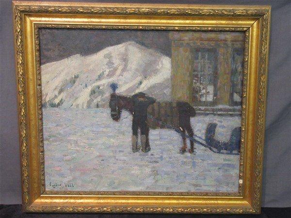 Eugene Laurent Vail (American, 1857-1934) Blue Sleigh