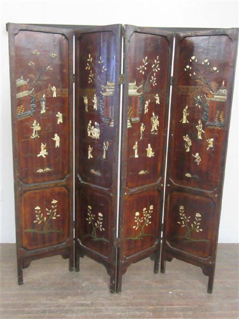 19th Century Antique  Chinese Room Screen