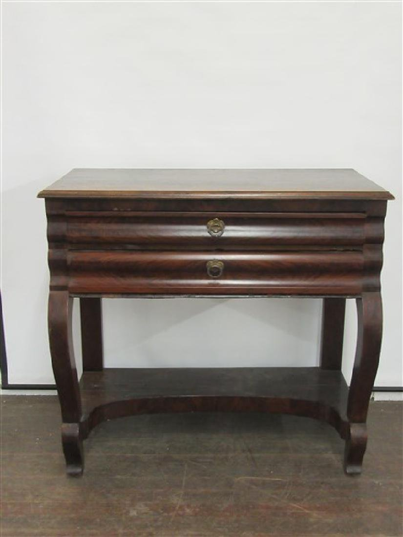 Empire Mahogany Shop Keepers Desk