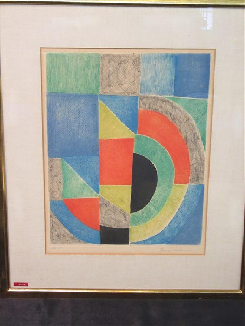Sonia Delaunay (1885-1979) Signed Aquatint