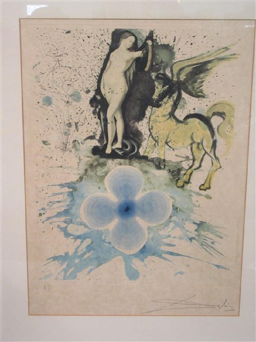 "Hand signed Salvador Dali ""Hommage A Cranach""  Etching"