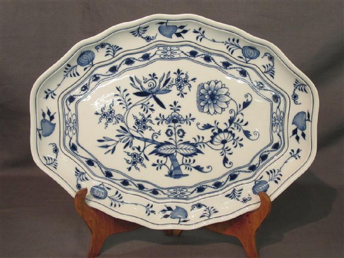 Meissen Blue Onion Porcelain Platter