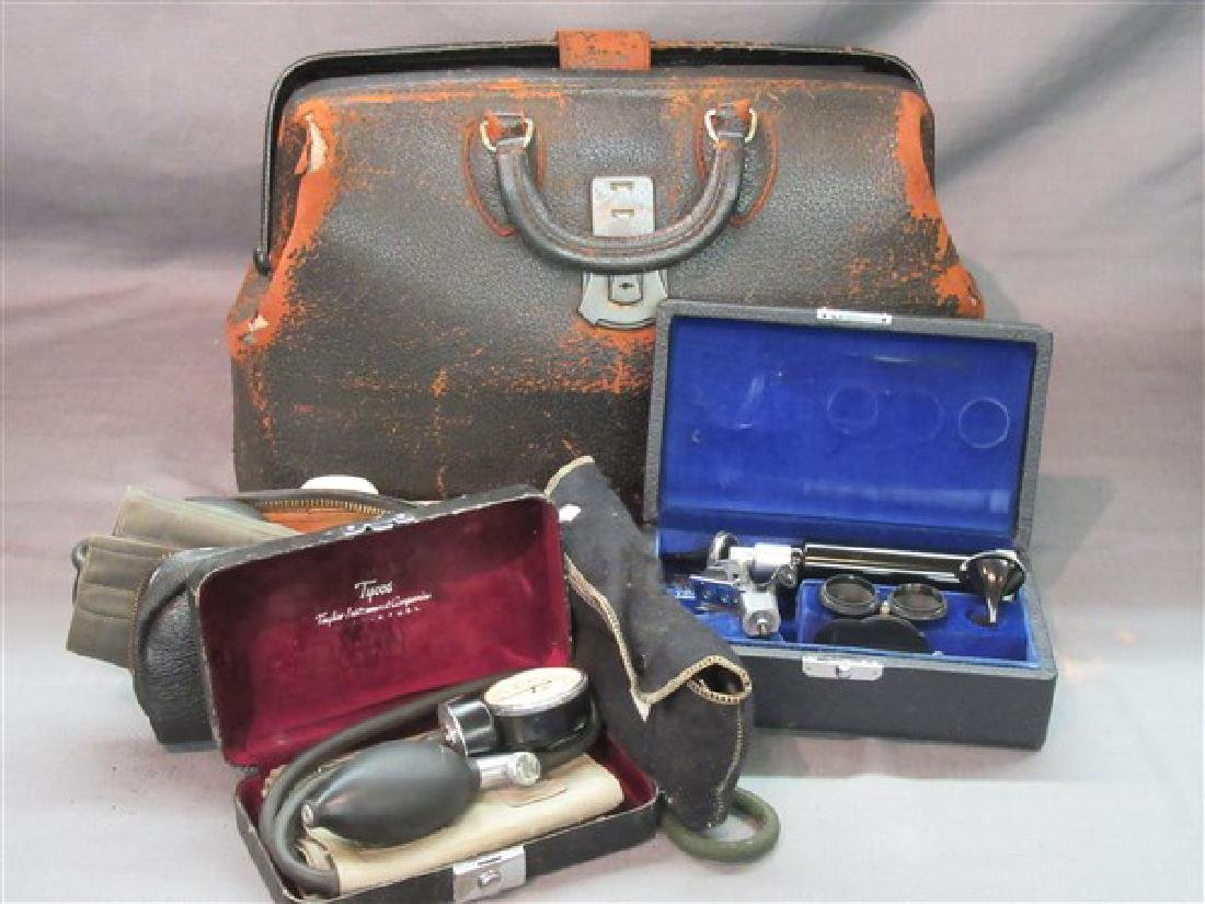 Vintage Doctor's Bag And Contents