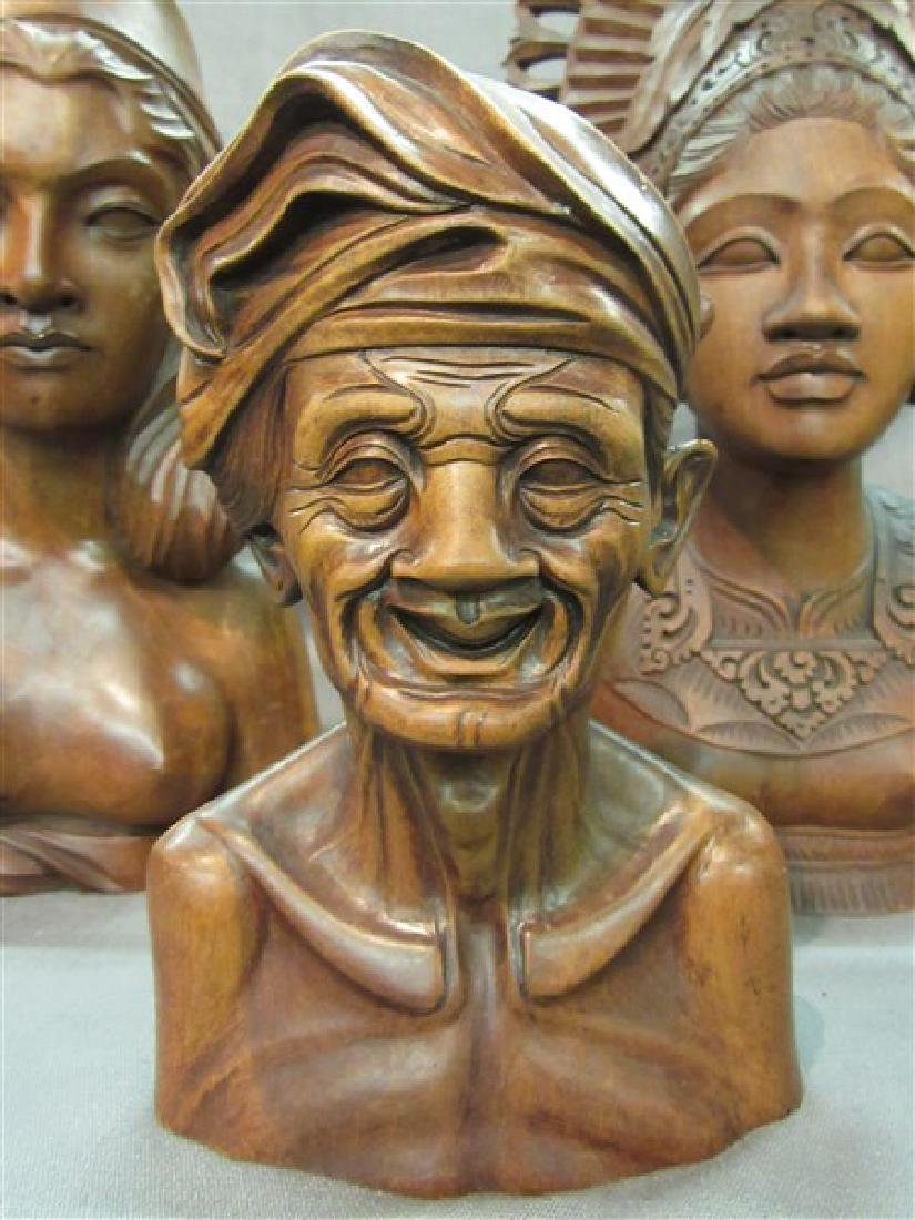 Four (4) Balinese Wood Carvings - 2