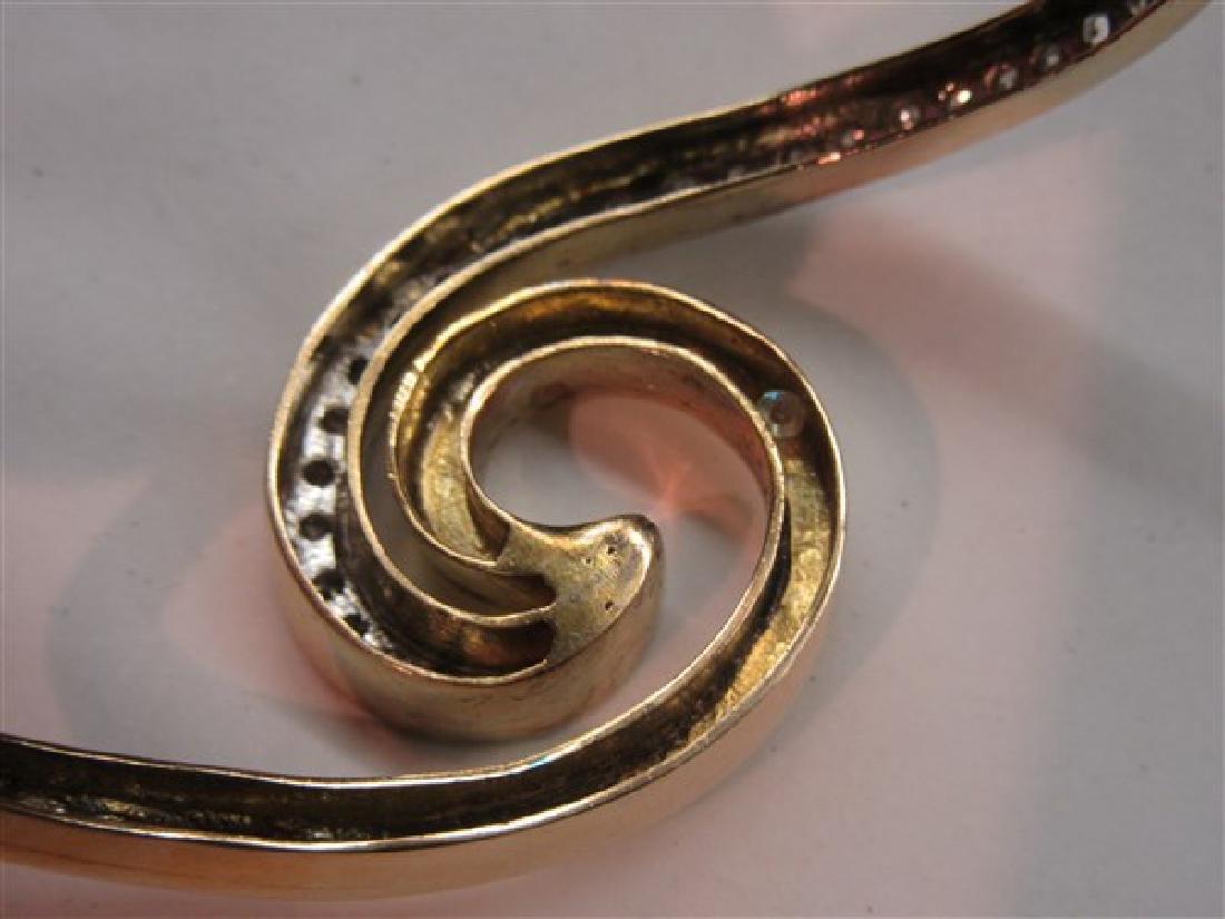 14k Y.G. Hinged Diamond Bracelet - 4