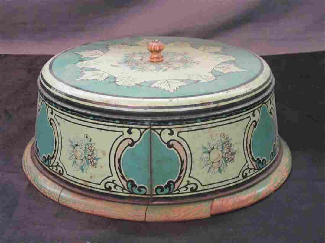 Vintage Kitchen Tin Cake Box