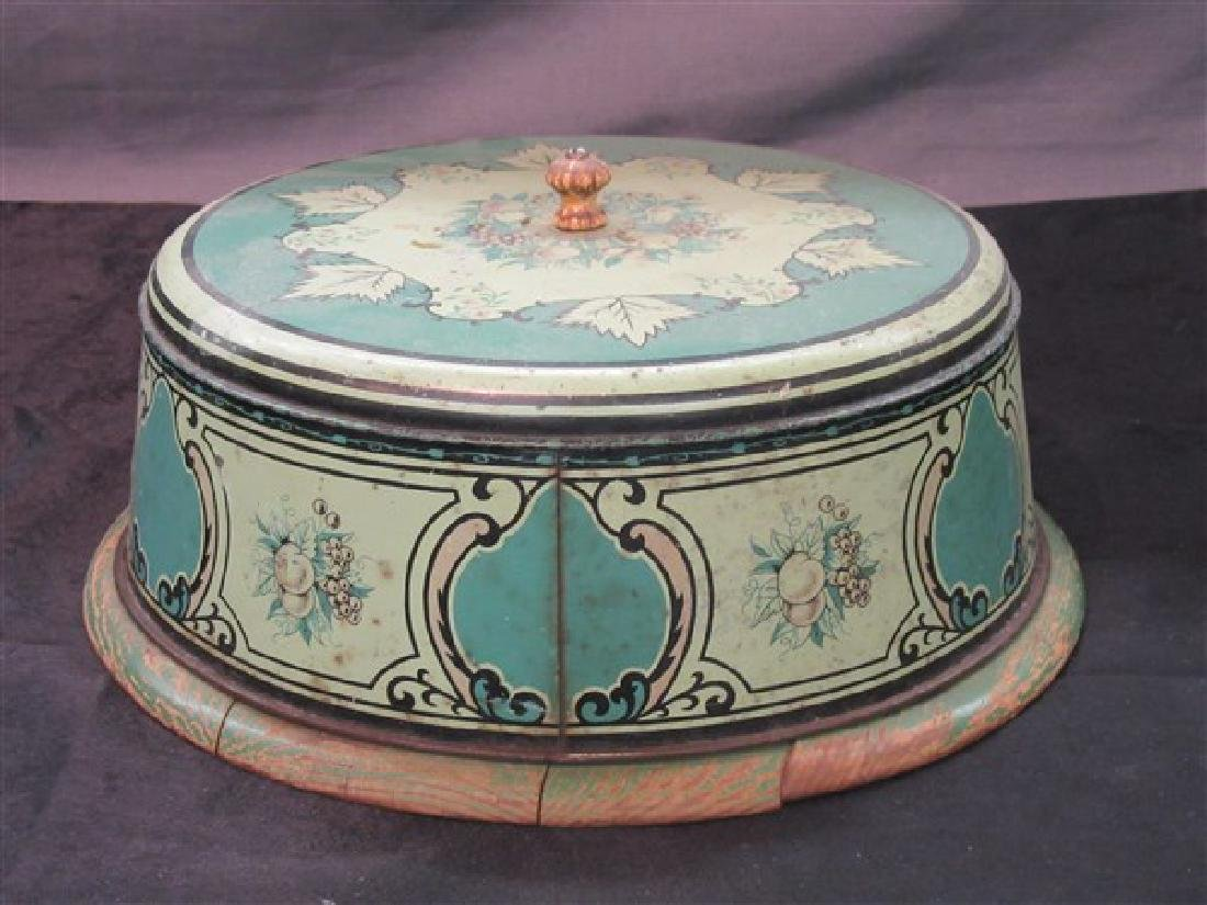Vintage Kitchen Tin Cake Box