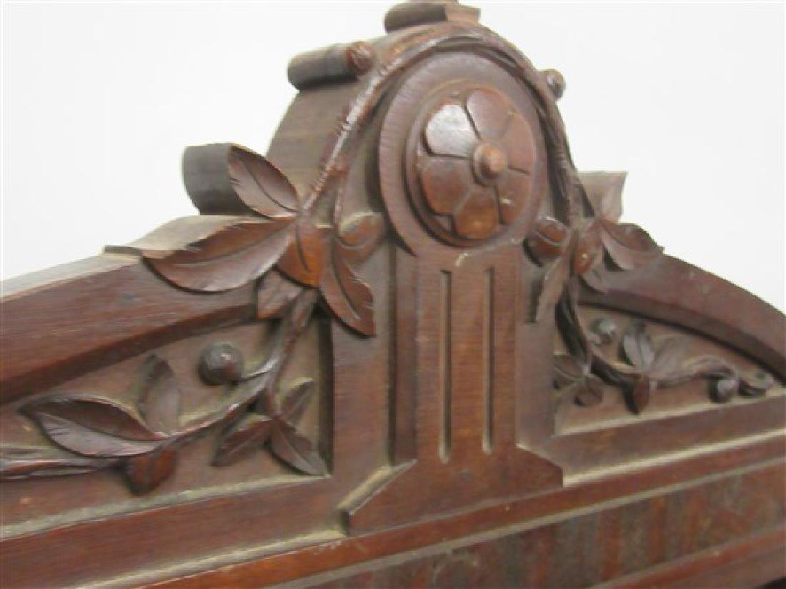 19th Century Victorian Eastlake Walnut Toddler's Bed - 5