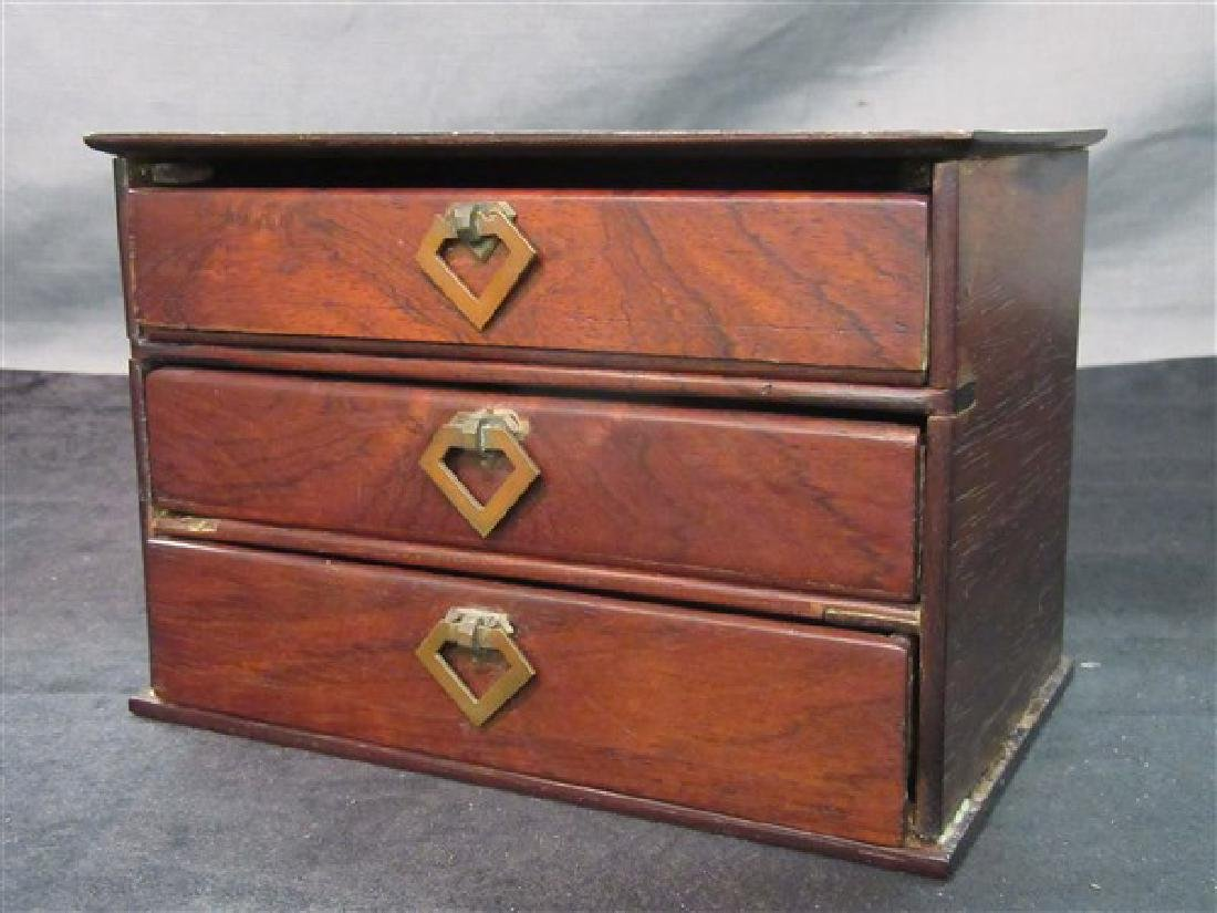 Three (3) Drawer Antique Rosewood Box
