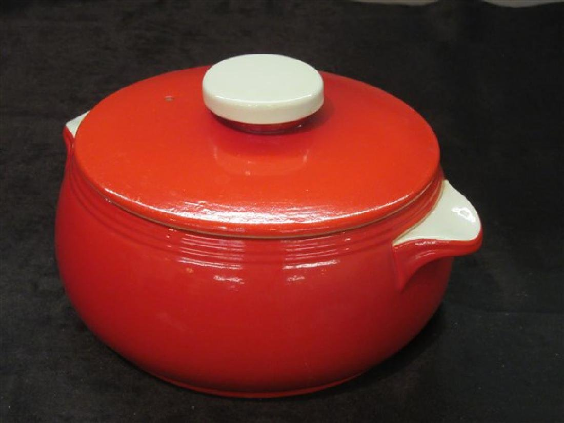 Hall's Retro Red Kitchen Bean Pot