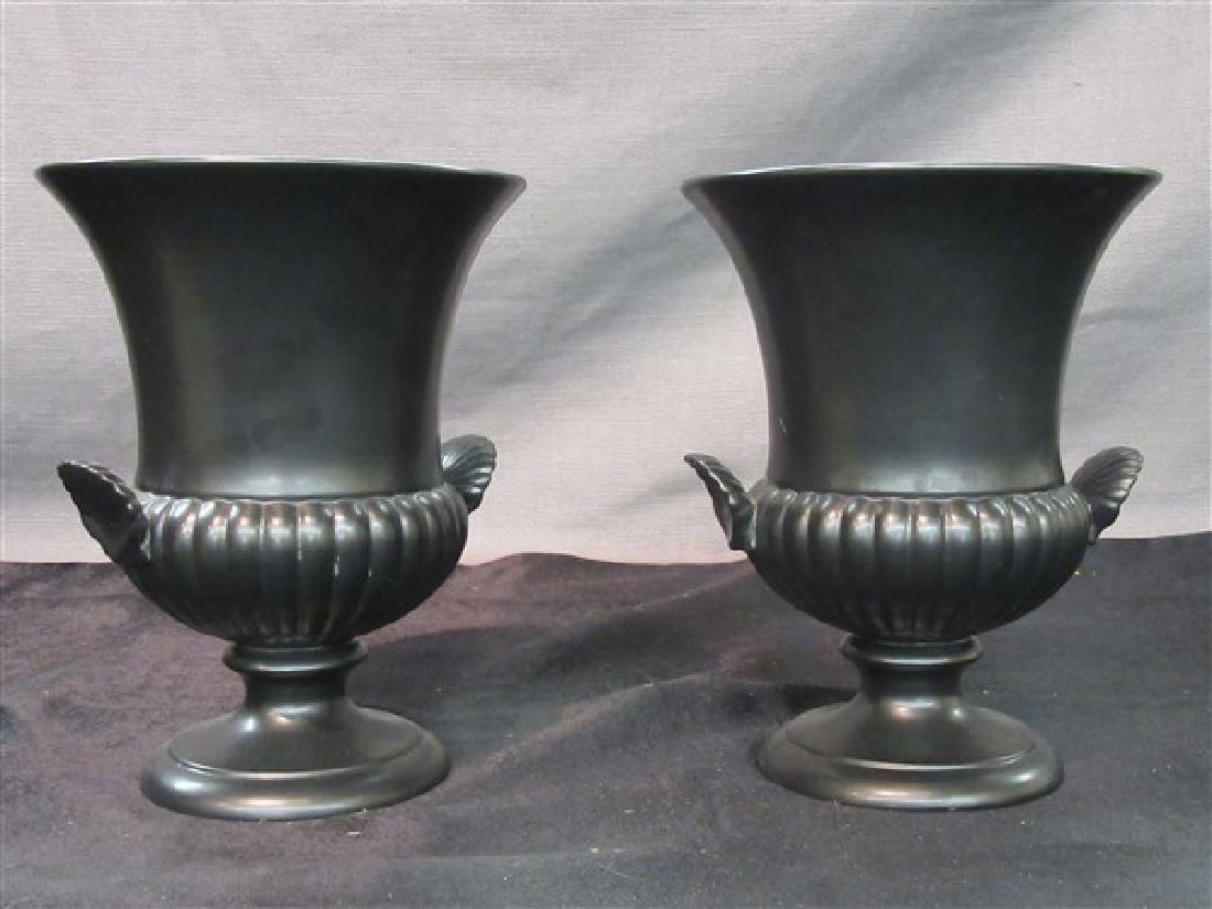 Wedgwood Black Basalt Vases