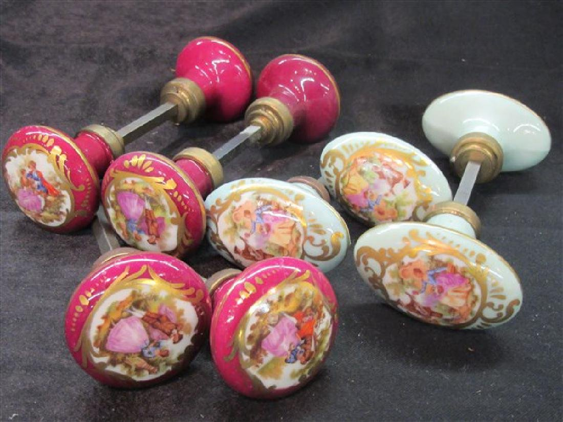 French Limoges Porcelain Door Knobs