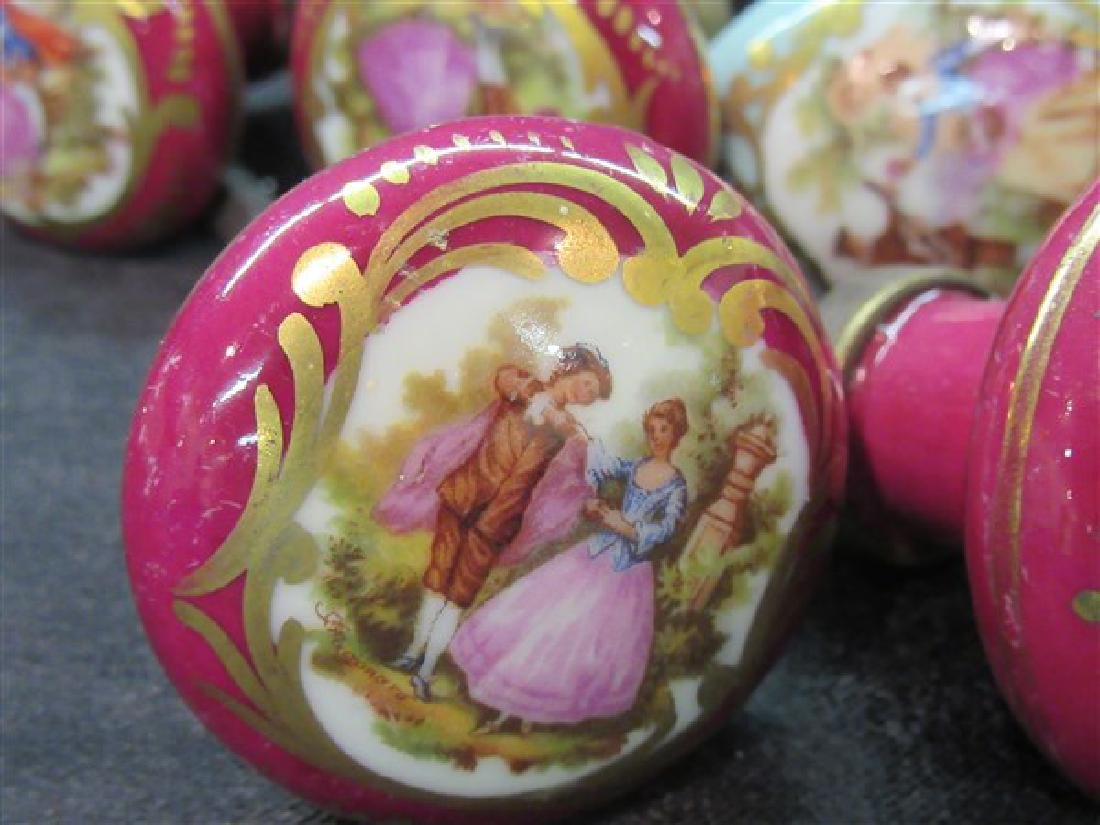 French Limoges Porcelain Door Knobs - 2