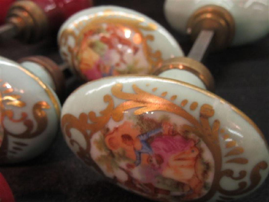 French Limoges Porcelain Door Knobs - 3