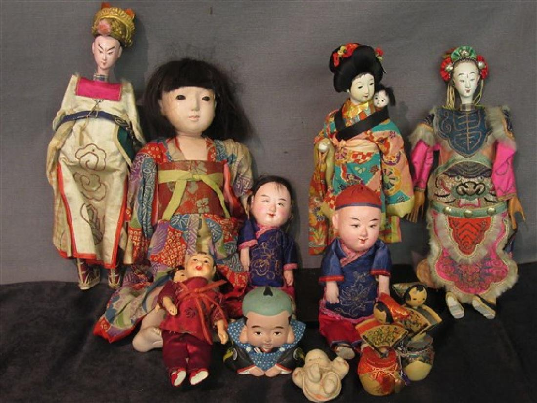 Vintage Chinese And Japanese Dolls