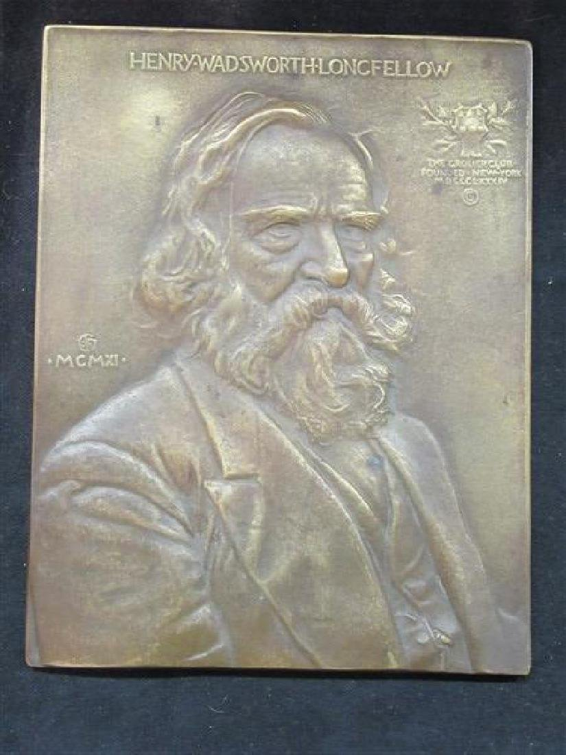 Henry Longfellow Wadsforth Longfellow Bronze Plaque