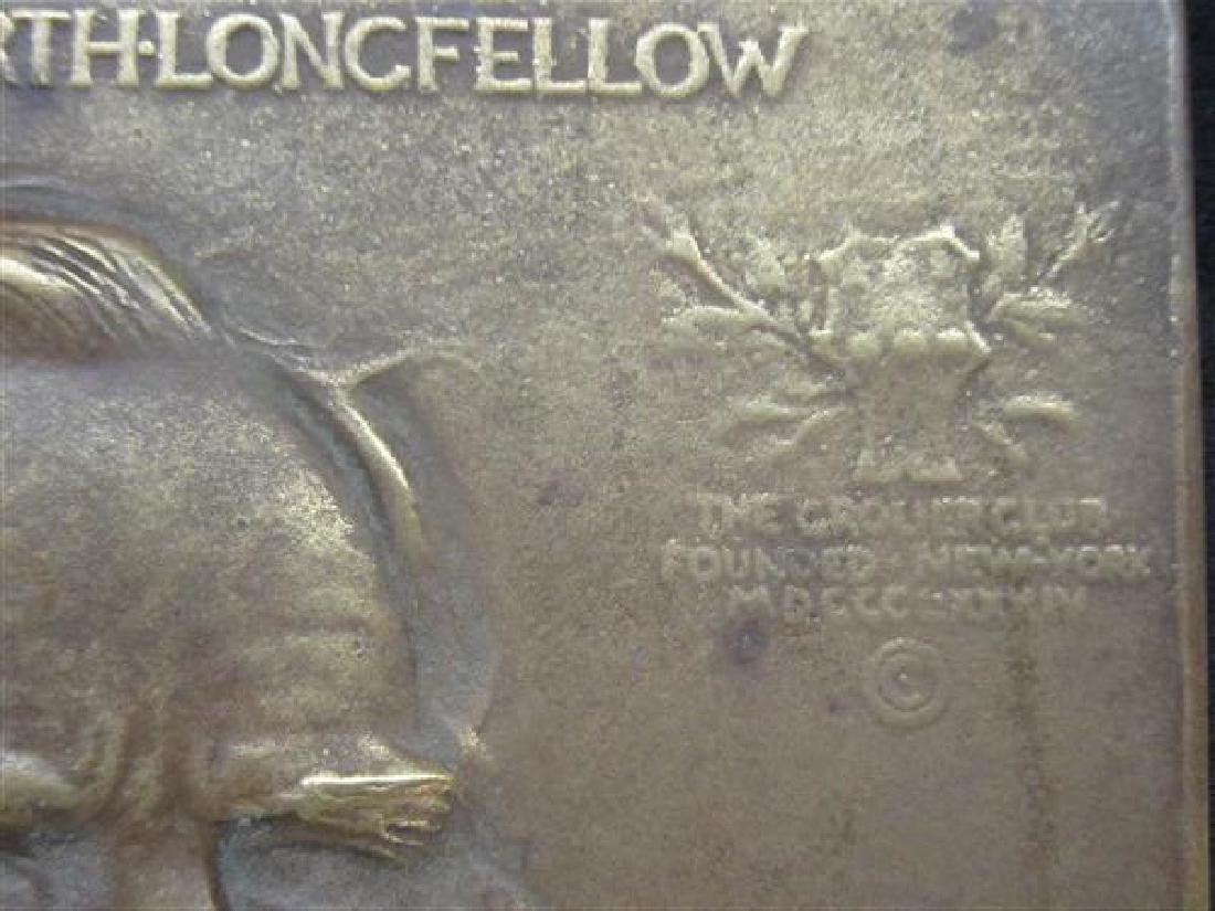 Henry Longfellow Wadsforth Longfellow Bronze Plaque - 4
