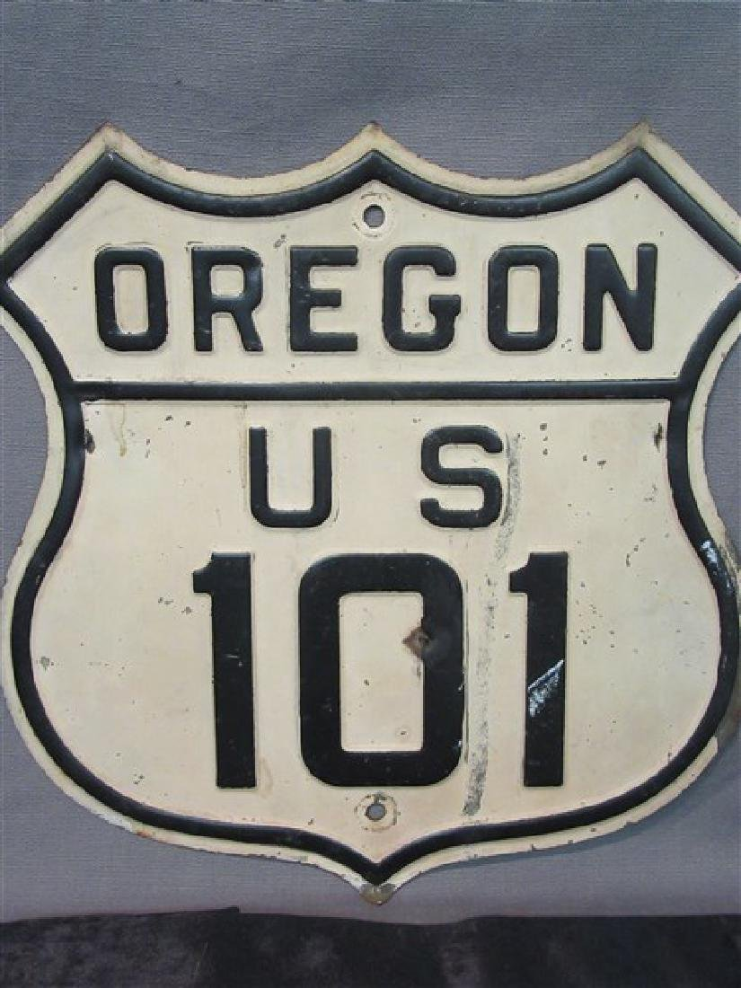 Vintage Oregon US 101 Highway Sign