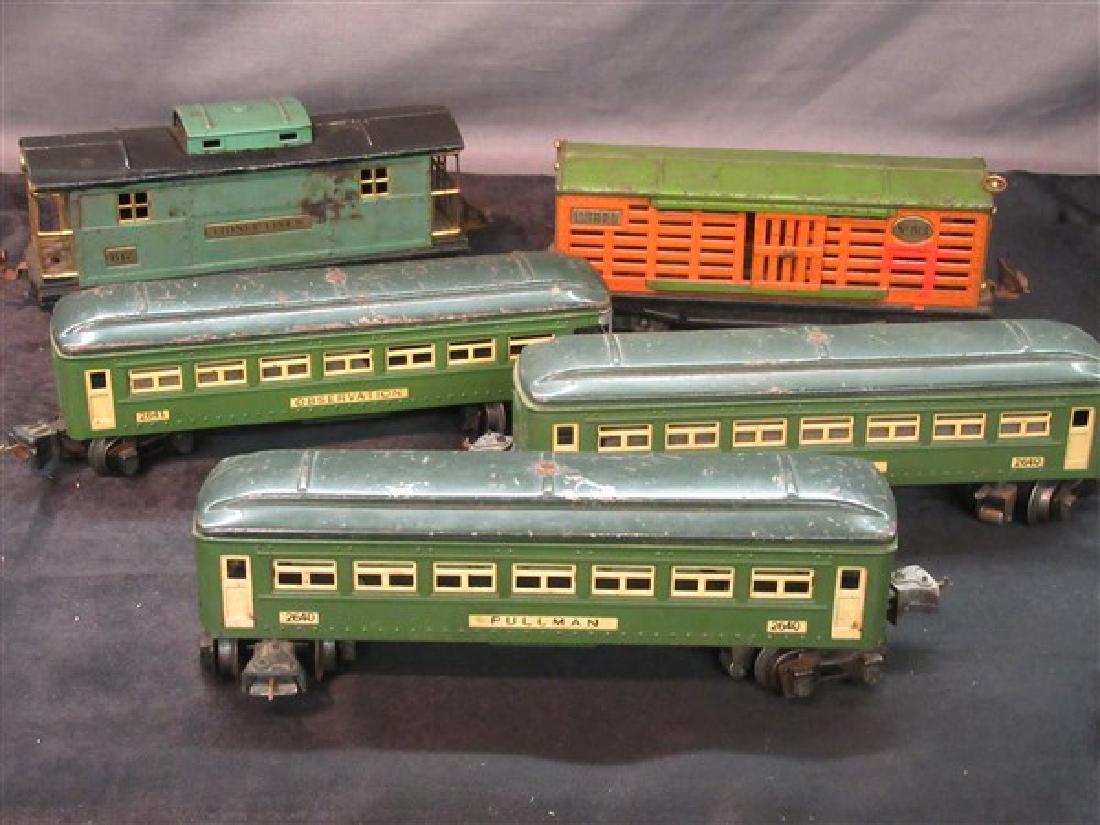 Five (5) Lionel Vintage Metal  Train Cars